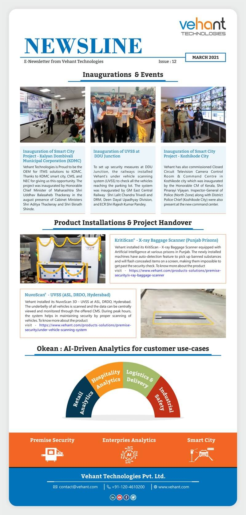 Vehant Technologies - Newsletter (Edition 12) - March