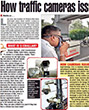 Times of India covers a story on how traffic camera's issue E-Challan