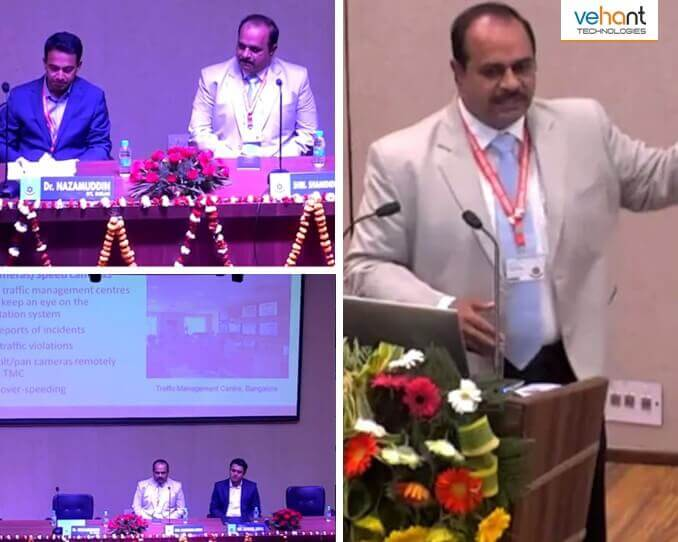 "Shamendra Singh, Head - Projects, Vehant Technologies, as a key panelist talked about ""Scope of Latest Innovations in Road Safety"" at International Conference on Safer Mobility: A Road to Safer India at IIT Delhi."