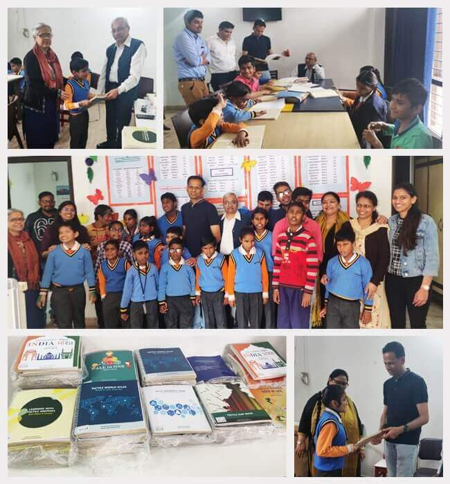 Vehant under its CSR umbrella sponsored Tactile books for visually impaired children at Saksham Daksh School in Noida. Prof. Anshul Kumar (IIT-D), our company's adviser and mentor along with our CTO and Co-founder Mr. Anoop G Prabhu distributed books to t