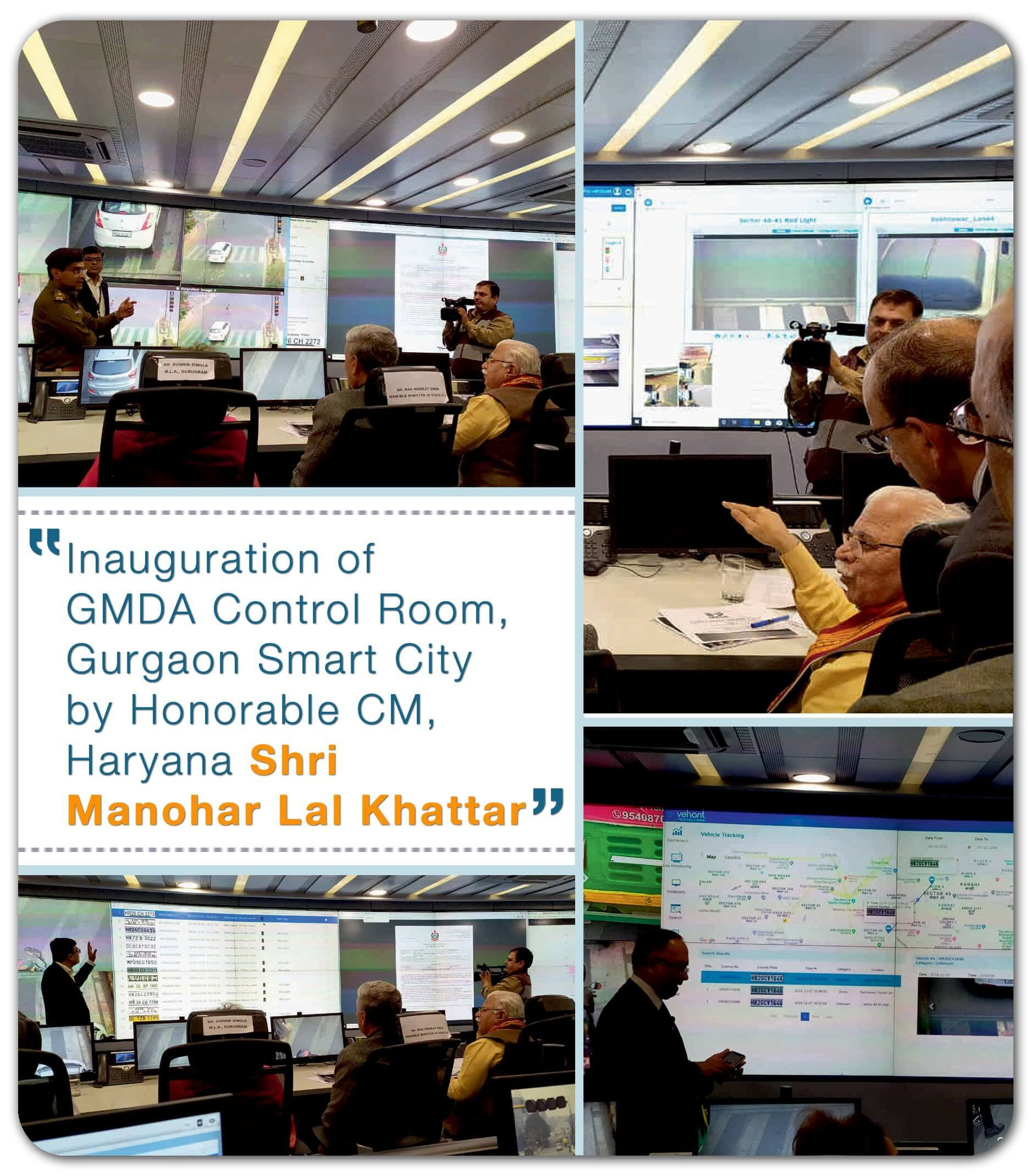 Gurgaon Smart City - ITMS and control room was inaugurated by Shri. Manohar Lal Khattar - Hon'bl CM of Haryana.