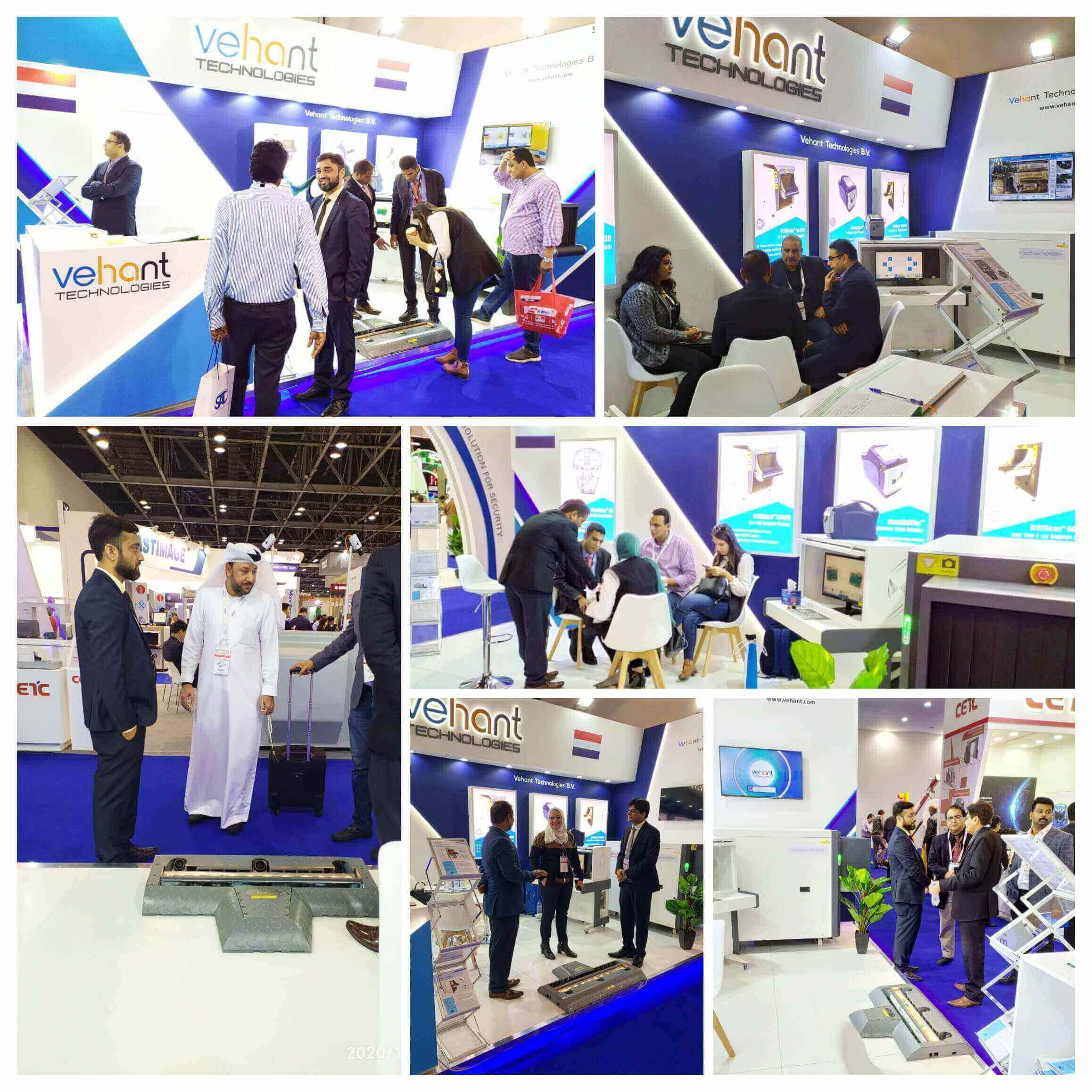 Intersec Dubai 2020 concluded for Vehant Technologies on a positive note. We exhibited our KritiScan® 6040DV - Dual View X-ray Baggage Scanner, NuvoScan® (P) - Portable Under Vehicle Scanning System and NanoSniffer™ - Explosives Trace Detector and receive