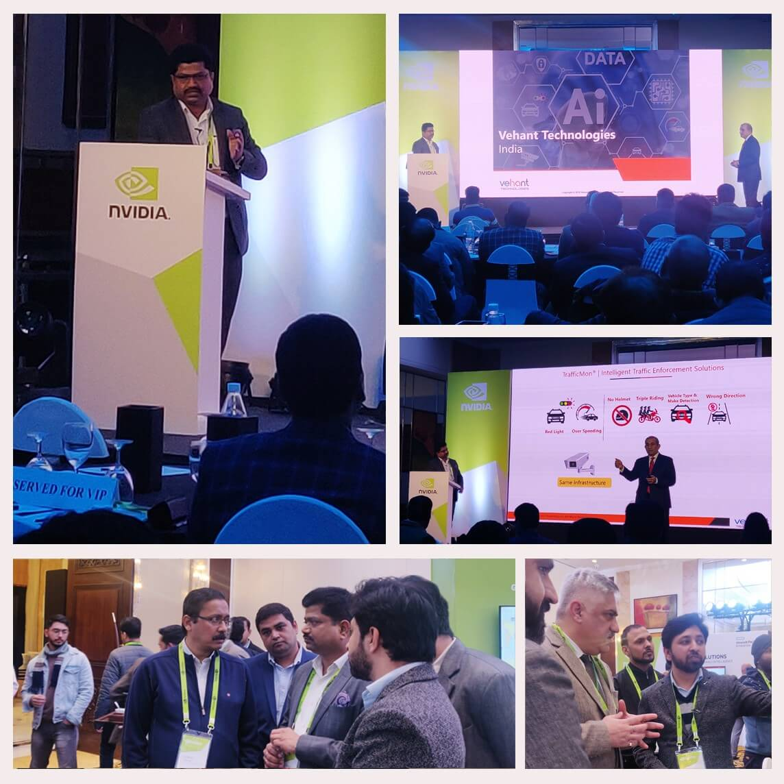 Vehant participated in AI and Intelligent Video Analytics Innovation Day organised by NVIDIA. Vehant demonstrated its range of AI based traffic enforcement and management solutions.