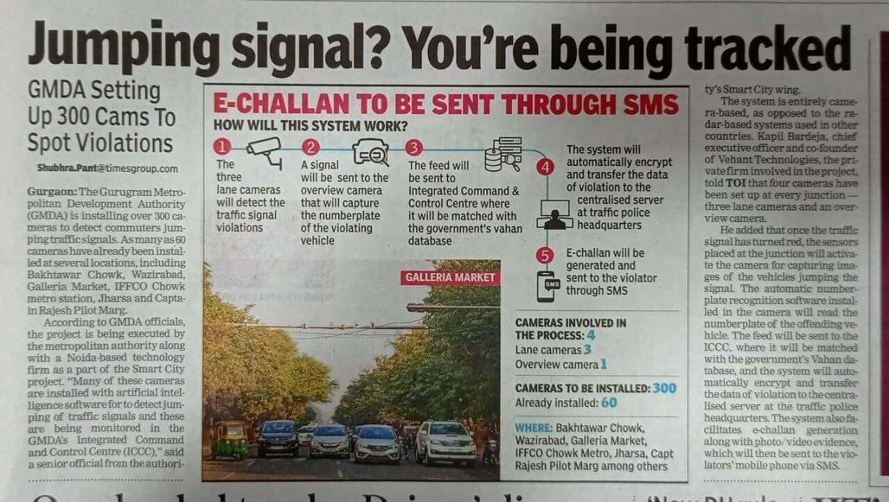 Times of India - Vehant, Smart City Project - Jumping Signal? You are being tracked