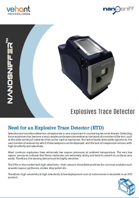 Whitepaper - NanoSniffer™ - Explosives Trace Detector